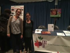 Second years at the EatSF booth