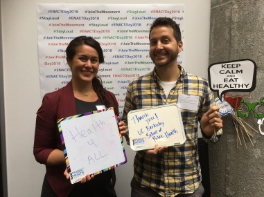 Kristal Caballero and Zachary Rickrode-Fernandez at ENACT Day in Sacramento